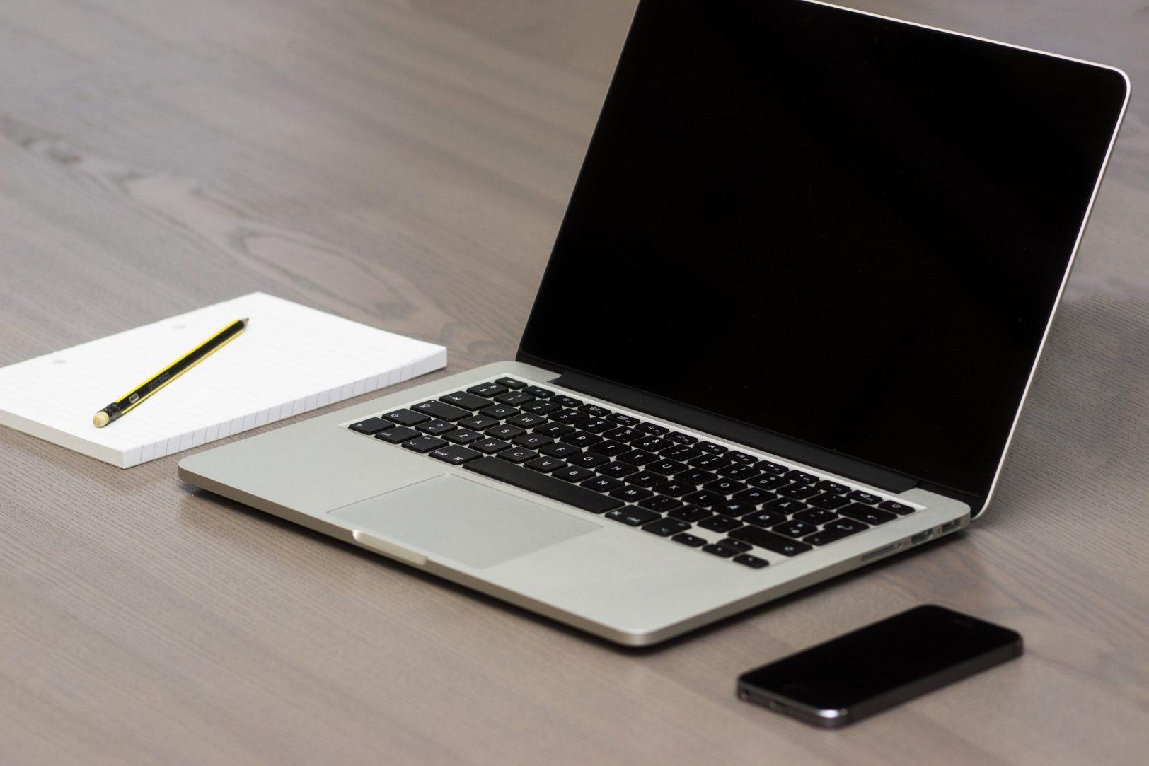 Minimalismus Laptop
